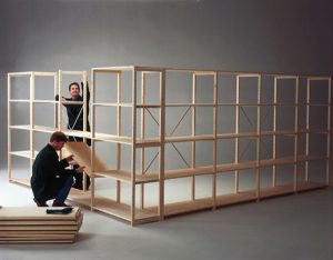 Houten Legbordstellingen Vurenhout houten stellingen